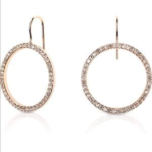 Kate Spade Rhinestone Circle Dangle Earrings